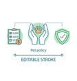pet policy concept icon vector image vector image