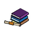 pile of books education diploma school concept vector image vector image