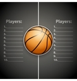 Poster Template of Basketball Ball vector image vector image
