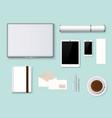 premium corporate identity template business vector image vector image