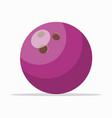 purple ball for bowling vector image