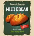 retro milk bread poster vector image vector image