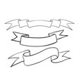 ribbon banners hand drawn outline sketch vector image vector image