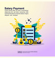 salary payment concept with people character for vector image vector image