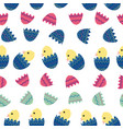 seamless pattern background with cute vector image vector image