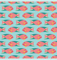 seamless pattern coral reef fish on a blue vector image vector image