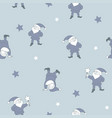 seamless pattern with santa helpers vector image