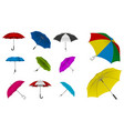 set realistic umbrella in various type vector image vector image