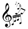 sheet music vector image