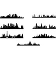 silhouette different cities vector image vector image