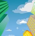 Skyscraper Building Perspective vector image vector image