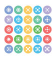 Snowflakes Colored Icons 4 vector image vector image