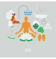 SPA flat design vector image