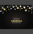 sparkling christmas glitter ornaments golden vector image