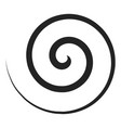 spiral curve icon shape and round pattern vector image vector image