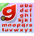 Sticker or label style alphabet vector image vector image