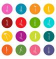 surgeons tools icons set colorful circles vector image vector image