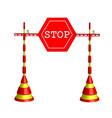 symbolic stop vector image