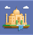 taj mahal landmark building from indian vector image vector image