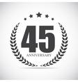 template logo 45 years anniversary