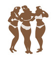 three graces silhouettes three pretty vector image