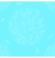 White Tree on Blue Background vector image vector image