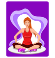 Woman practises yoga vector image