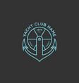 yacht club logo vector image vector image