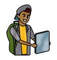 young man student cartoon vector image vector image