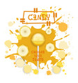 candy banana lolly dessert colorful icon choose vector image