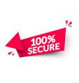100 percent secure arrow label