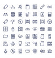 49 storage icons vector image vector image