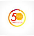 50 anniversary circle logo vector image vector image
