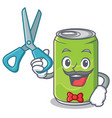 barber soft drink character cartoon vector image