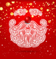 beard and mustache santa claus vector image vector image