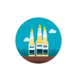 Beer bottle icon Summer Vacation vector image