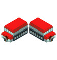 bigh building with red roof vector image vector image