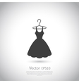 Black dress on hanger Dress icon vector image vector image