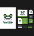 butterfly logo design inspiration vector image vector image