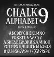 chalk cyrillic and latin alphabets vector image vector image