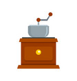 coffee grinder icon flat style vector image