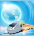concept background with high-speed train and the vector image