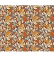 Crowd people color seamless pattern vector image