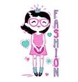 Cute fashion girlish vector image