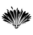 cute flower icon simple black style vector image