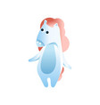 cute horse standing on two legs stylized vector image