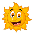 cute sun cartoon vector image vector image