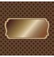 dark-gold-label vector image vector image
