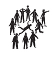 Death in a Crowd vector image vector image