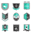 Dentist badges vector image vector image